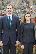 020217 Spanish Royals Attend Audiences at Zarzuela Palace