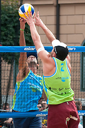 Julian Amando Azaad vs Michael Murauer at Beach Volleyball Challenge Ljubljana 2014, on August 2, 2014 in Kongresni trg, Ljubljana, Slovenia. Photo by Matic Klansek Velej / Sportida.com