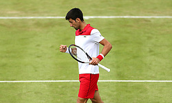 Serbia's Novak Djokovic during day two of the Fever-Tree Championship at the Queens Club, London. PRESS ASSOCIATION Photo. Picture date: Tuesday June 19, 2018. See PA story TENNIS Queens. Photo credit should read: Steven Paston/PA Wire. RESTRICTIONS: Editorial use only, no commercial use without prior permission.
