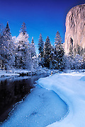 El Capitan and the Merced river, Yosemite National Park, California