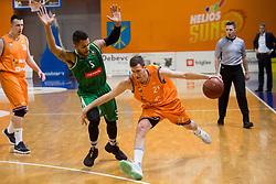 Blaz Mahkovic of KK Helios Suns during basketball match between KK Helios Suns and KK Petrol Olimpija in Playoffs of Liga Nova KBM 2017/18, on March 26, 2018 in Hala Kominalnega Centra, Domzale, Slovenia. Photo by Urban Urbanc / Sportida