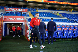CARDIFF, WALES - Tuesday, November 14, 2017: Wales' Chris Gunter walks out to inspect the pitch before the international friendly match between Wales and Panama at the Cardiff City Stadium. (Pic by David Rawcliffe/Propaganda)