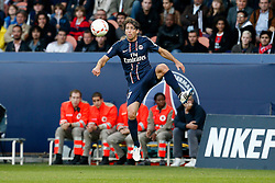 29.09.2012, Stade de Parc des Princes, Paris, FRA, Ligue 1, Paris St. Germain vs FC Sochaux, 7. Runde, im Bild MAXWELL (PARIS SAINT-GERMAIN) // during the French Ligue 1 7th round match between Paris St. Germain and FC Sochaux at the Stade de Parc des Princes, Paris, France on 2012/09/29. EXPA Pictures © 2012, PhotoCredit: EXPA/ PicAgency Skycam/ Chris Elise..***** ATTENTION - OUT OF SWE *****