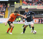 Dundee's Luka Tankulic runs at Dundee United's Ryan McGowan - Dundee United v Dundee at Tannadice Park in the SPFL Premiership<br /> <br />  - © David Young - www.davidyoungphoto.co.uk - email: davidyoungphoto@gmail.com
