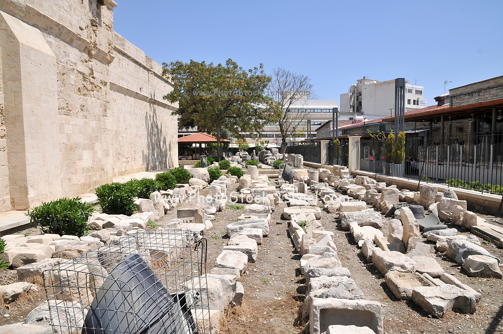 Excavation at Castle Square, Limassol, Cyprus