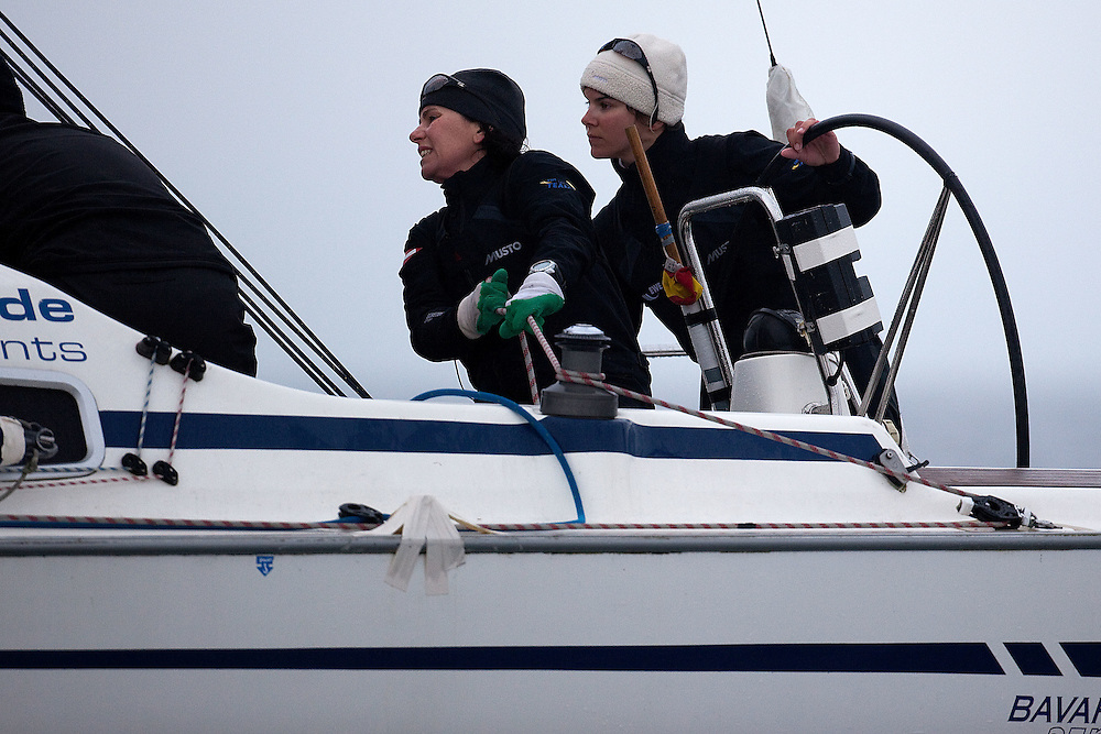 Kathrin Kadelbach (R) and Ulrike Schuemann (L), Ewe Sailing Team. World Match Race Tour. Match Race Germany. Langenargen, Germany. 20 May 2010. Photo: Gareth Cooke/Subzero Images/WMRT
