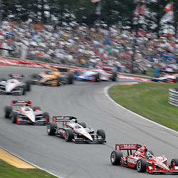 8 August, 2010; Target Chip Ganassi Racing's DARIO FRANCHITTI leads during the Izod IndyCar Series Honda Indy 200 at the Mid-Ohio Sports Car Course in Lexington, Ohio. Franchitti went on to win the race..Mandatory Credit: Will Schneekloth / Southcreek Global