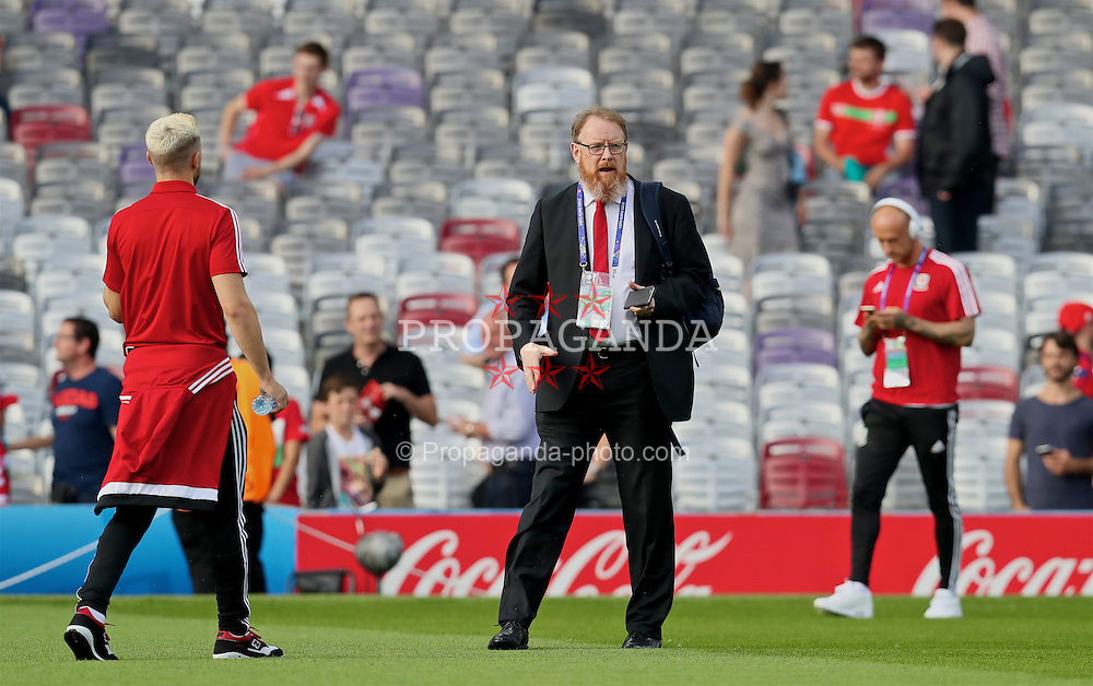 TOULOUSE, FRANCE - Monday, June 20, 2016: Wales' head of international affairs Mark Evans before the final Group B UEFA Euro 2016 Championship match against Russia at Stadium de Toulouse. (Pic by David Rawcliffe/Propaganda)