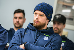 Luka Gracnar during press conference of Slovenia Ice Hockey Team before friendly games against Hungary, Italy and Belarus, on February 4, 2019 in Bled, Slovenia. Photo by Peter Podobnik / Sportida