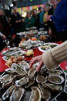 slowfood oyster celebration, tasting - Photograph by Owen Franken