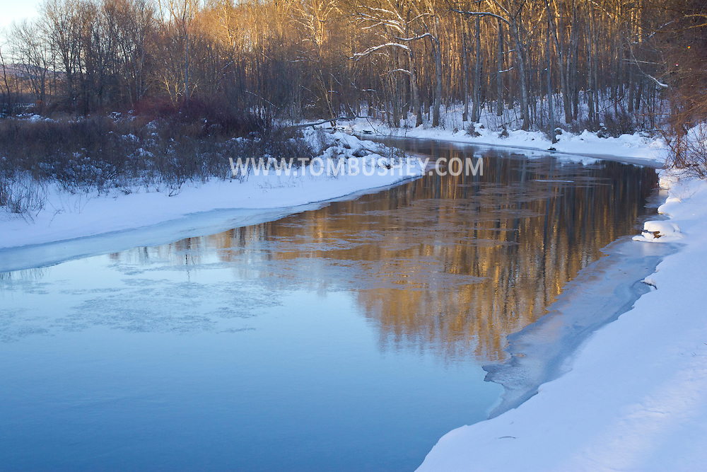 Mamakating, New York - Winter scenes after a snowstorm at the Bashakill Wildlife Management Area on Feb. 9, 2013.