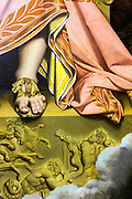 Detail of Ingres painting in permanetn collection of Granet museum in Aix-en-Provence, France.