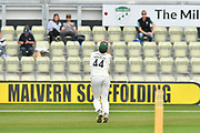 Wicket - Ross Whiteley of Worcestershire takes the catch to dismiss Ben Foakes of Surrey off the bowling of Wayne Parnell of Worcestershire during the final day of the Specsavers County Champ Div 1 match between Worcestershire County Cricket Club and Surrey County Cricket Club at New Road, Worcester, United Kingdom on 13 September 2018.