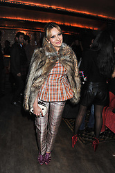 ZARA MARTIN at a party to celebrate the opening of the Muzungu Sisters Pop Up Store at Momo - an ethically sourced fashion brand  held at Momo, 25 Heddon Street, London on 27th October 2011.