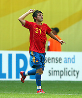 2:0 Jubel fuer Spanien durch David Villa <br />