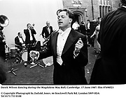 Derek Wilson dancing during the Magdalene May Ball, Cambridge. 17 June 1987. film 87490f23<br />