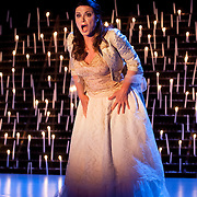 "November 12, 2013 - New York, NY : Soprano Anna Caterina Antonacci performs in a dress rehearsal for the U.S. premiere of ""Era la Notte,"" staged by Juliette Deschamps as part of Lincoln Center's White Light Festival, at the Rose Theater in Manhattan on Tuesday evening. CREDIT: Karsten Moran for The New York Times"