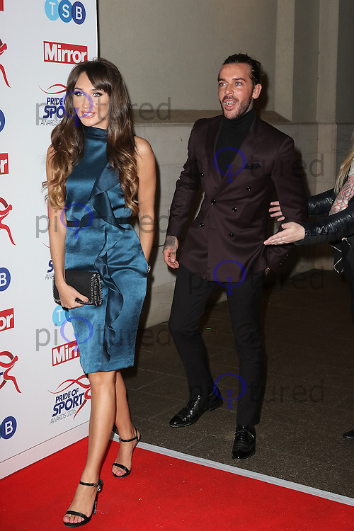 Megan McKenna, Pete Wicks, Pride of Sport Awards, Grosvenor House Hotel, London UK, 07 December 2016, Photo by Richard Goldschmidt