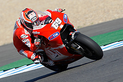 01.05.2010, Motomondiale, Jerez de la Frontera, ESP, MotoGP, Race, im Bild Nicky Hayden - Ducati team. EXPA Pictures © 2010, PhotoCredit: EXPA/ InsideFoto / SPORTIDA PHOTO AGENCY