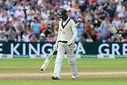 Wicket - Usman Khawaja of Australia looks dejected as he walks back to the pavilion after being dismissed by Ben Stokes of England during the International Test Match 2019 match between England and Australia at Edgbaston, Birmingham, United Kingdom on 3 August 2019.