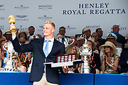 Henley on Thames, England, United Kingdom, 7th July 2019, Henley Royal Regatta, Prize Giving, The Diamond Challenge Sculls, Oliver ZEIDLER,  Germany[© Peter SPURRIER/Intersport Image]<br /> 17:40:36 1919 - 2019, Royal Henley Peace Regatta Centenary,