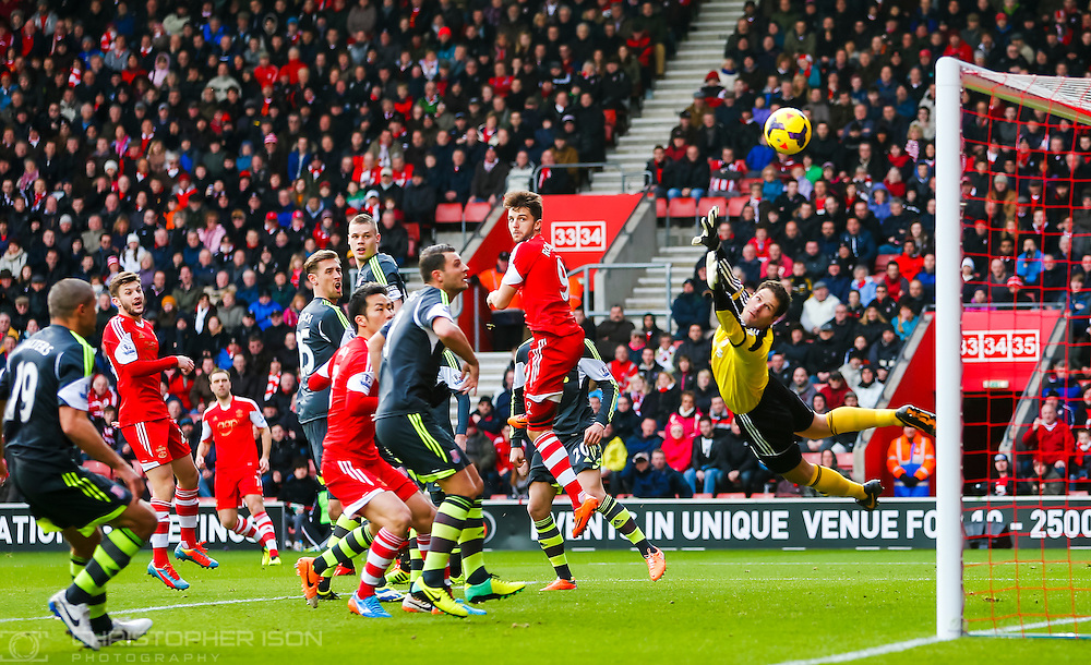 Time stops as all eyes watch Rickie Lambert's free-kick curl into the top corner of the Sunderland goal.