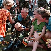 Terugkeer Dutchbat uit Bosnie op Soesterberg