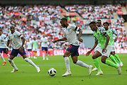 England forward Raheem Sterling (10) heads towards goal during the Friendly International match between England and Nigeria at Wembley Stadium, London, England on 2 June 2018. Picture by Toyin Oshodi.