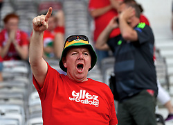 TOULOUSE, FRANCE - Monday, June 20, 2016: A Wales supporter before the final Group B UEFA Euro 2016 Championship match against Russia at Stadium de Toulouse. (Pic by David Rawcliffe/Propaganda)
