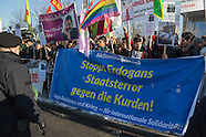 Protests turkish state visit, Berlin