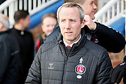 Charlton manager Lee Bowyer before the EFL Sky Bet League 1 match between Peterborough United and Charlton Athletic at London Road, Peterborough, England on 26 January 2019.