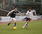 Dundee&rsquo;s Cammy Kerr goes past Hearts&rsquo; Juanma Delgado - Dundee v Hearts - Ladbrokes Premiership at Dens Park <br />  - &copy; David Young - www.davidyoungphoto.co.uk - email: davidyoungphoto@gmail.com