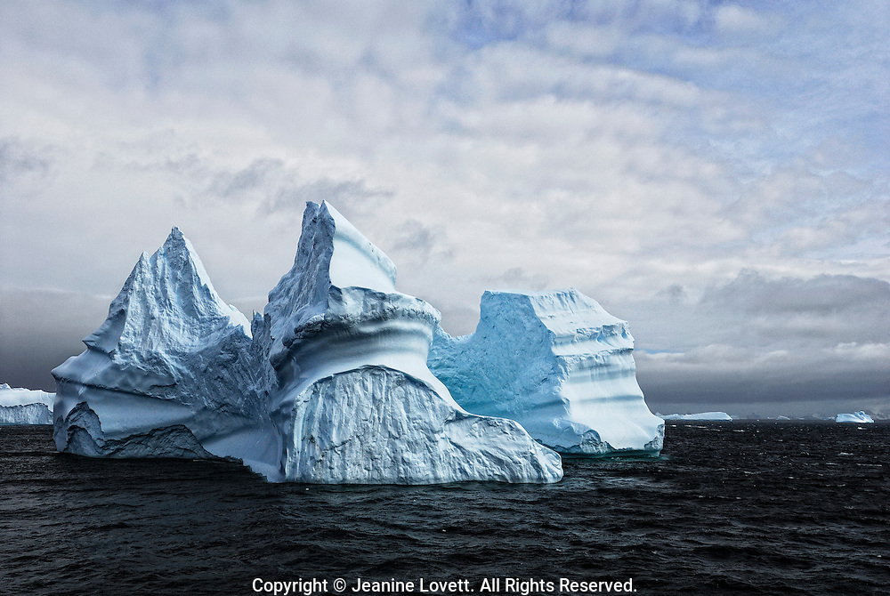 Antarctica, Orkney Islands iceberg shaped like a castle.