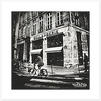 Boulangerie, Paris, France - Monochrome version. Inkjet pigment print on Canson Infinity Rag Photographique 310gsm 100% cotton museum grade Fine Art and photo paper.<br />
