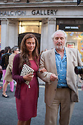 KRISTA D'SOUZA; NICK ALLOTT, Vogue's Fashion night out special opening of the Halcyon Gallery.  New Bond St. London. 6 December 2012.