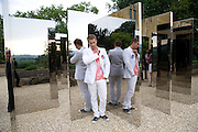 JEPPE HEIN NEXT TO HIS 'SIMPLIFIED MIRROR LABRINTH 1, 2008. , The Artists' Playground. Reconstruction 3: Contemporary Art at Sudeley Castle, 2008 In partnership with Phillips de Pury & Company and supported by Chanel. 31 May 2008. *** Local Caption *** -DO NOT ARCHIVE-© Copyright Photograph by Dafydd Jones. 248 Clapham Rd. London SW9 0PZ. Tel 0207 820 0771. www.dafjones.com.