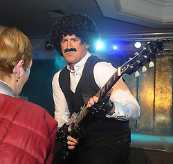 Michael Kearns as Phil Lynott at Westport United&rsquo;s &lsquo;Stars in their Eyes&rsquo; on friday night last.<br /> Pic Conor McKeown