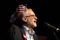 © Licensed to London News Pictures. 07/11/2019. Darwen UK. Labour leader Jeremy Corbyn at Darwen Library Theatre in Lancashire today as part of the General Election Campaign. Photo credit: Andrew McCaren/LNP