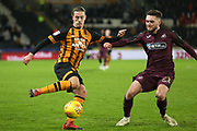 Hull City midfielder Jackson Irvine (16) attacks  during the EFL Sky Bet Championship match between Hull City and Swansea City at the KCOM Stadium, Kingston upon Hull, England on 22 December 2018.