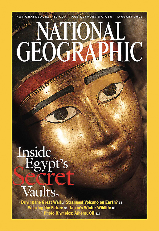 15691National Geographic Jan. 2003 edition cover: Portrait of Amy Thompson