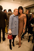 NATHALIE PRESS AND CYNTHIA WOO, Exhibition of work by Marc Newson at the Gagosian Gallery, Davies st. London. afterwards at Mr. Chow, Knightsbridge. 5 March 2008.  *** Local Caption *** -DO NOT ARCHIVE-© Copyright Photograph by Dafydd Jones. 248 Clapham Rd. London SW9 0PZ. Tel 0207 820 0771. www.dafjones.com.