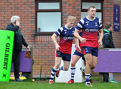 Mat Protheroe of Bristol Bears United runs-out at Cliton RFC to face Harlequins XV - Mandatory by-line: Paul Knight/JMP - 02/12/2018 - RUGBY - Clifton RFC - Bristol, England - Bristol Bears United v Harlequins - Premiership Rugby Shield