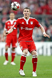 21.04.2010, Allianz Arena, Muenchen, GER, Champions League, Bayern Muenchen vs Olympique Lyonnais, Halbfinale Hinspiel, im Bild Bastian Schweinsteiger (FC Bayern Nr.31)  , EXPA Pictures © 2010, PhotoCredit: EXPA/ nph/  Straubmeier / SPORTIDA PHOTO AGENCY
