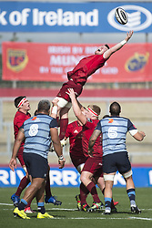 September 30, 2017 - Limerick, Ireland - Peter O'Mahony of Munster pictured in action during the Guinness PRO14 Conference A Round 5 match between Munster Rugby and Cardiff Blues at Thomond Park in Limerick, Ireland on September 30, 2017  (Credit Image: © Andrew Surma/NurPhoto via ZUMA Press)