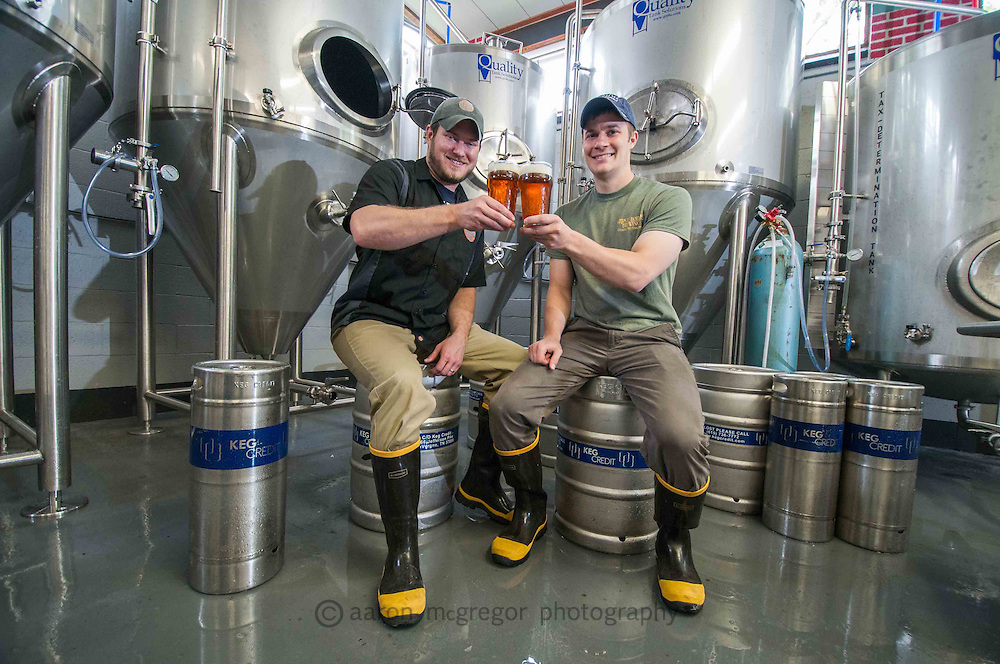 Commercial portrait of two entrepreneurs as they embark on a new micro brewery endeavor.