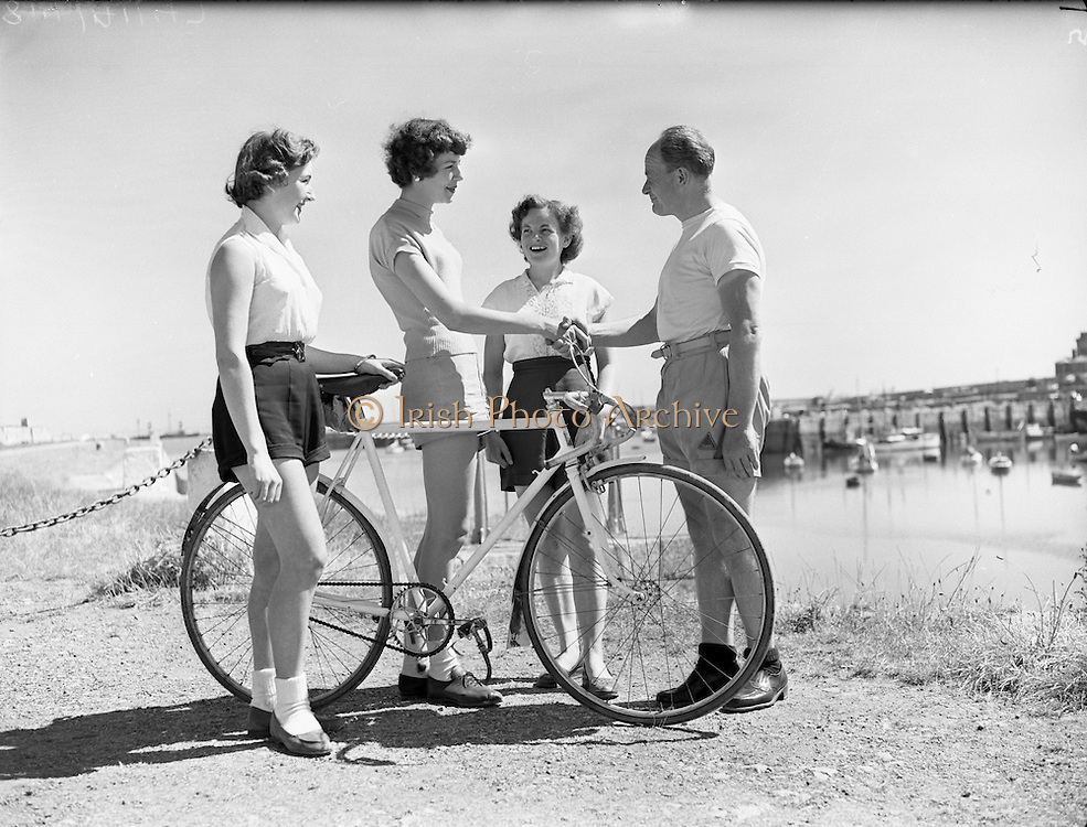 Cycling - 'Miss Cycling' Special at Dun Laoghaire - Miss Joy McVeigh, Belfast.12/07/1955