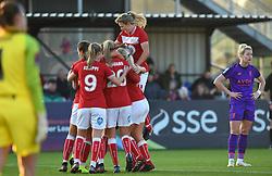 Bristol City Women celebrate Ella Rutherford's goal - Mandatory by-line: Paul Knight/JMP - 17/11/2018 - FOOTBALL - Stoke Gifford Stadium - Bristol, England - Bristol City Women v Liverpool Women - FA Women's Super League 1