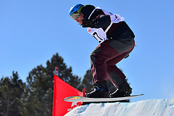 Snowboarder Cross Action, FEISTRITZER Klaus, AUT at the 2016 IPC Snowboard Europa Cup Finals and World Cup