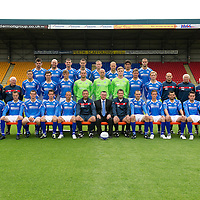St Johnstone FC Season 2011-12<br /> Back row from left, Cillian Sheridan, Sam Parkin, Mark Durnan, David McCracken, Frazer Wright, Steven Anderson, Francisco Sandaza and Marcus Haber.<br /> Middle row from left, Gordon Marshall (Goalkeeping Coach), Alec Cleland (Youth Coach), Tommy Campbell (Youth Development Manager), Graham Gartland, Carl Finnigan, Murray Davidson, Alan Mannus, Peter Enckelman, Zander Clark, Jamie Adams, Liam Craig, Graham Kirk (Coach), Atholl Henderson (Coach), Jocky Peebles (Asst Physio) and Frank Kenny (Physio).<br /> Front row from left, Liam Caddis, Alan Maybury, David Robertson, Kevin Moon, Jody Morris, Derek McInnes (Manager), Billy Murphy (EasyHeat), Tony Docherty (Asst Manager), Dave Mackay, Chris Millar, Callum Davidson, Sean Higgins and Stevie May.<br /> Picture by Graeme Hart.<br /> Copyright Perthshire Picture Agency<br /> Tel: 01738 623350  Mobile: 07990 594431