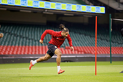 CARDIFF, WALES - Wednesday, October 10, 2018: Wales' captain Ashley Williams during a training session at the Principality Stadium ahead of the International Friendly match between Wales and Spain. (Pic by David Rawcliffe/Propaganda)
